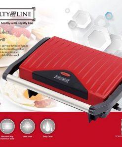 <p><b>Royalty Line PM-750.1; Panini Grill 750W</b></p><p>Il réchauffe instantanément votre panini ou votre sandwich préféré. Il peut également être utilisé pour griller des steaks
