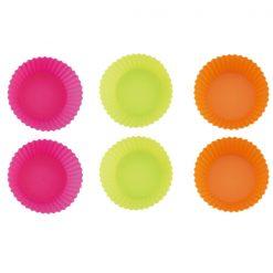 Blaumann BL-1269; Silicon moule à gâteau rond de petit muffin 6 pcsMatériel: siliconeTaille: 7 x 7 x 3 cmCouleur: vert
