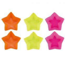 Blaumann BL-1273; Cinq étoiles moule à gâteau en silicone 6 pcsMatériel: siliconeTaille: 7 x 7 x 3 cmCouleur: vert