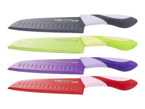Bergner BG-4068; Couteau Santoku 18cmLame: Acier inoxydablePoignée: ThermoplastiqueCouleur: Vert