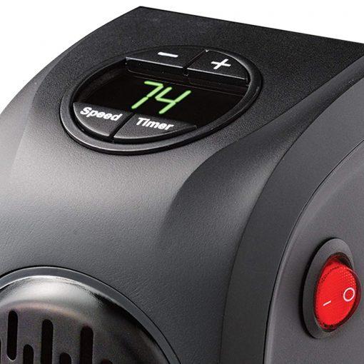 en particulier le boîtier en plastique rester au frais pour maintenir la durabilité et garantir la sécurité. Il dispose d'un système de protection contre la surchauffe qui éteint automatiquement l'unité et en cas de dysfonctionnement pour assurer la sécurité et la fiabilité. L'appareil de chauffage fonctionne manuellement pour sélectionner le réglage nécessaire en conséquence. Il dispose d'une fonction à 2 vitesses (haute et basse) tout en produisant un bruit extrêmement silencieux. Parfait pour salle d'eau