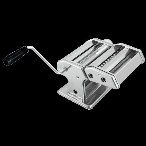 une machine à pâtes facile à utiliser et à préparer de délicieux plats de pâtes. Fabriqué à partir d'un acier inoxydable de haute qualité alimentaire ajoutant l'extérieur chromé pour une conception propre et sans faille. Cet artisanat poli miroir est non seulement attrayant mais aussi facile à utiliser et suffisamment durable pour un usage quotidien. Cette machine à pâtes est un rouleau réglable qui peut facilement ajuster l'épaisseur et le diamètre de n'importe quelle variation et type de pâtes comme un cuisinier professionnel. La préparation est juste une tâche simple avec le couteau à 2 lames