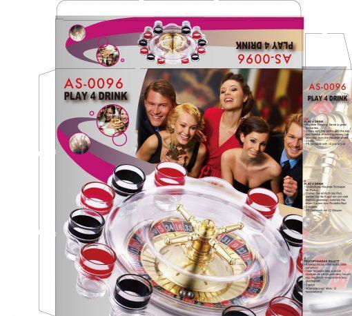 ajouter la balle au lieu de gagner de l'argent vous prenez une verre de la roulette  Contient: 2 balles  Rotatif avec 12 verres à liqueur