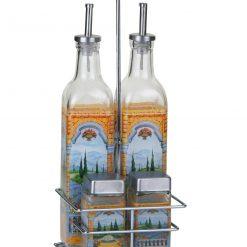 Euro Lady El-9099; Pots d'épices et des bouteilles d'oil