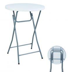 Herzberg HG-5018; Table à cocktailsCette table est idéale pour les fêtes de mariages intérieurs et extérieurs