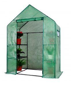 <div><b>Herzberg HG-8002; Walk-In Greenhouse </b><b>avec</b><b> fenêtres</b></div><div> </div><div> </div><div> </div><div>Cultivez votre plante dans un environnement pratique et porteur avec la serre chaude sans vis Herzberg HG-8002 avec Windows. Cette serre est portable et contient 3 étagères de chaque côté et est soutenue par un tube en métal de haute qualité. La conception crée un environnement propice à la croissance saine de vos plantes tout en protégeant des fortes pluies