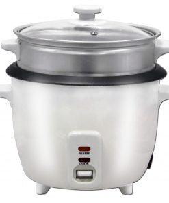 Herzberg HG-8005: 700W Cuisinière Multifunction -1.8LLe riz moelleux parfaitement cuit est tellement facile avec le cuiseur multifonction Herzberg HG-8005: 700 W -1