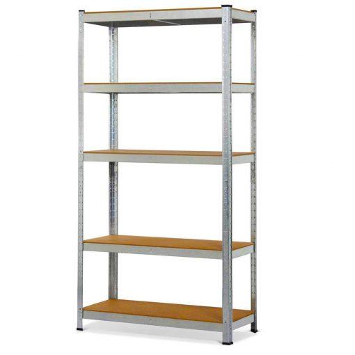 Herzberg HG-8027: Clayette de Stockage GalvaniséeOrganisez vos objets de valeur avec cette étagère aux lignes pures de Herzberg. L'étagère de rangement galvanisée Herzberg est fabriquée en acier galvanisé de haute qualité qui ne rouille pas et ne se corrode pas. Le design moderne se marie avec élégance à tout endroit de votre maison. Il est facile à installer et vous n'avez pas besoin de vis et de nœuds pour sécuriser les étagères. L'ensemble comprend 5 tablettes en bois pressé qui peuvent être fixées à l'aide d'un marteau ou d'un maillet et peuvent être rangées et disposées à une hauteur spécifique. Elles sont entièrement réglables en hauteur par incréments de 100 mm / 3