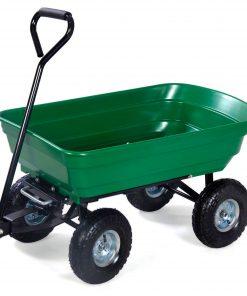 Herzberg HG-8028-50: Chariot à Benne à Roue 50LLe chariot de déchargement de brouette Herzberg 50L est un moyen innovant de transporter et de décharger des objets plus lourds que votre brouette classique. Avec une capacité maximale de 200 kg et un transport de pneumatiques tout terrain