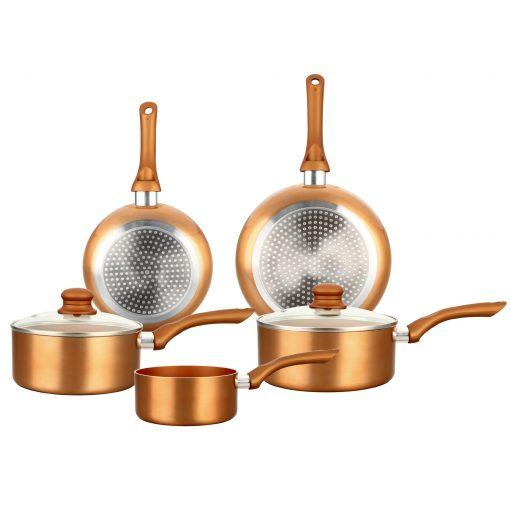 7 pièces Créez une cuisine savoureuse chez vous avec le kit de batterie de cuisine 7 pièces HG-8044COP Herzberg. Conception élégante et élégante
