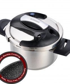 <p><b>Herzberg HG-PS4M: Autocuiseur 4L en Acier Inoxydable Avec Revêtement en Marbre</b></p><p>La dernière innovation de la cuisine qui garantit la plus grande efficacité dans chaque cuisine de Herzberg. Présentation de l'autocuiseur Herzberg