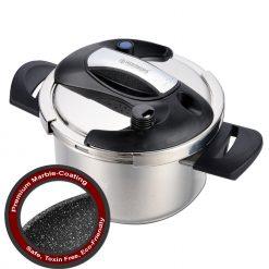 Herzberg HG-PS6M: Autocuiseur 6L en Acier Inoxydable Avec Revêtement en MarbreLa dernière innovation de la cuisine qui garantit la plus grande efficacité dans chaque cuisine de Herzberg. Présentation de l'autocuiseur Herzberg