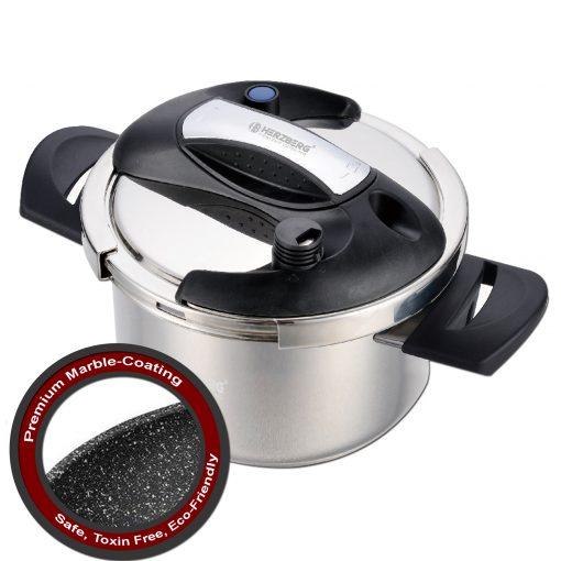 Herzberg HG-PS8M: Autocuiseur 8L en Acier Inoxydable Avec Revêtement en MarbreLa dernière innovation de la cuisine qui garantit la plus grande efficacité dans chaque cuisine de Herzberg. Présentation de l'autocuiseur Herzberg
