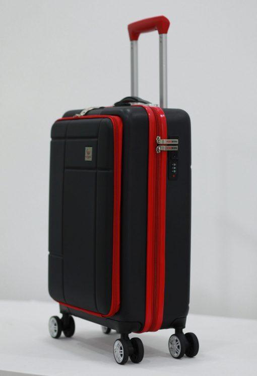 Herzberg Travel HG-8063BLK: Sac Cabine - NoirAssurez vos effets personnels en toute sécurité pendant tout le voyage et les voyages et profitez de votre voyage d'affaires et de vacances sans stress avec le sac de cabine Herzberg HG-8063BLK. Cet étui rigide est fabriqué à partir de matériaux ABS de première qualité