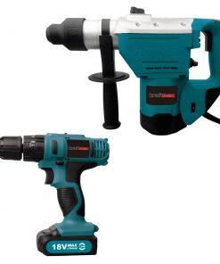 <p><b>Kraftmax International KF-CDRH025; Ensemble combiné marteau rotatif et perceuse sans fil</b></p><p>L'outil professionnel Kraftmax KF-CDRH025 est le meilleur outil de combo que vous puissiez avoir. Le combo marteau rotatif et perceuse sans fil est le meilleur outil que vous aurez jamais. Notre marteau rotatif a une vitesse de rotation à vide de 850 à 230 volts. Idéale pour une utilisation dans les travaux de maçonnerie ou de perçage dans l'acier