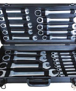Kraftmax International KF-FS22; 22PCS Clés À Cliquet FlexibleUn excellent outil avec des matériaux de haute qualité créés pour le travail de réparation. C'est l'outil rêvé par tous les mécaniciens et toutes les compétences