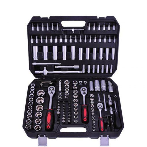 """Outil professionnel Kraftmax KF-171: Jeu de 171 prises PCS (1/4 """"& 3/8"""" & 1/2 """")Un ensemble d'outils complet et de qualité supérieure de Kraftmax avec un jeu de douilles de 171 pièces (1/4 """"& 3/8"""" & 1/2 """"). Cela varie en fonction de vos propres besoins pour une tâche donnée"""