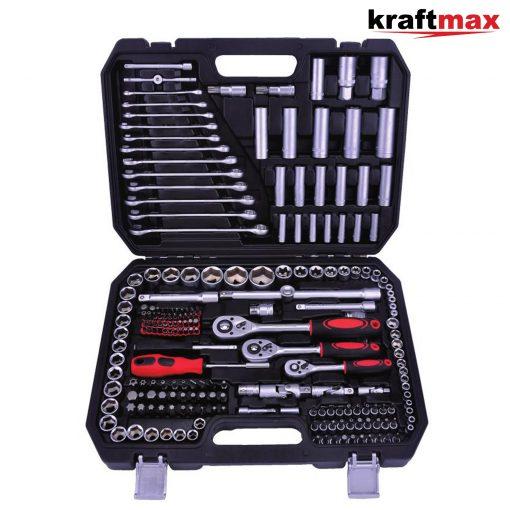 mais qui fournissent également une qualité supérieure aux autres. L'ensemble de douilles 216 pièces Kaftmax Professional Tools fait tout. Fabriqué à partir d'un acier au chrome-vanadium de haute qualité