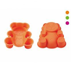 """Peterhof PH-12843; Moules à gateaux en silicone """"Ourson""""Moules à gateaux en silicone """"Ourson""""3 couleurs: Vert"""