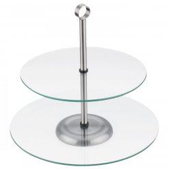 Peterhof PH-12867; Support pour le dessert- Matériel: Verre- 2 Couches- Niveau supérieur - 25 cm- Niveau inférieur - 30cm- 18/0
