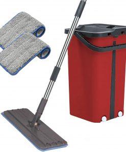 <p><b>Cenocco CC-9077: Vadrouille Plate Avec Seau</b></p><p>Profitez du nettoyage avec ce merveilleux système de nettoyage de Cenocco. Le Cenocco CC-9077: Vadrouille plate avec seau a un design innovant qui a révolutionné le nettoyage comme nul autre. Doté d'un seau à deux chambres qui vous permet de laver et de sécher les têtes de vadrouille. Lavez le côté pour charger la vadrouille avec de l'eau et le côté sec pour éliminer l'excès d'eau. Maintenant