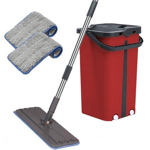 Cenocco CC-9077: Vadrouille Plate Avec SeauProfitez du nettoyage avec ce merveilleux système de nettoyage de Cenocco. Le Cenocco CC-9077: Vadrouille plate avec seau a un design innovant qui a révolutionné le nettoyage comme nul autre. Doté d'un seau à deux chambres qui vous permet de laver et de sécher les têtes de vadrouille. Lavez le côté pour charger la vadrouille avec de l'eau et le côté sec pour éliminer l'excès d'eau. Maintenant