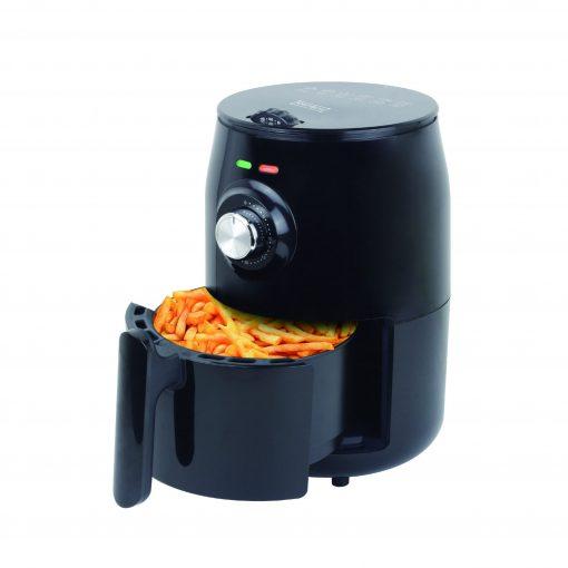 cette friteuse à air est dotée d'un élément chauffant en acier inoxydable dissimulé avec un fusible thermique pour contrôler automatiquement la chaleur. La technologie de circulation d'air à haute vitesse a créé un air chaud qui vous permet de cuisiner le repas sans odeur d'huile