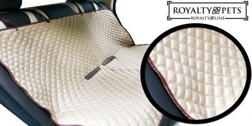 les taches et les cheveuxCrée un berceau pratique et sûr pour votre animal de compagnieFort et résistant à la déchirure et à l'abrasionLes sièges à revêtement imperméable restent propresBretelles réglables avec boucles à dégagement rapideErgonomique et confortable à utiliserConvient à la plupart des véhiculesLavable en machineAucun outil requisFacile à ranger  Caractéristiques:Nom de marque: Royalty Pets par Royalty LineCouleur beigeMatière: nylon