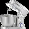 battre et pétrir. Le mélangeur de support mettra fin à un mélange manuel laborieux et </p></noscript><p>s'attaquera à toute tâche pour la préparation des aliments. Les trois pièces jointes s'attaqueront à chaque tâche de mélange. </p><p>Toutes les pièces jointes peuvent être utilisées sur l'un des différents réglages de vitesse en choisissant l'agitation lente ou </p><p>rapide