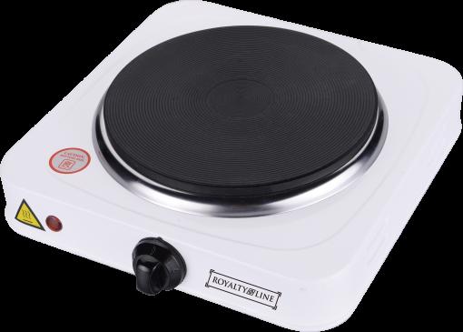 Royalty Line RL-EKP1500.15; Plaque chauffante 1500W- 5 niveaux de cuisson- Thermostat automatique- Protection contre la surchauffe- Indicateur on/off- Bouton- Chauffage rapide- Tension 220-240V≈50Hz- Voltage 1500W