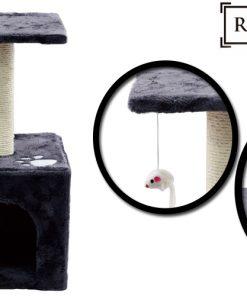 cet arbre à chat offre une plate-forme de divertissement varié permettant à votre animal de compagnie de sauter