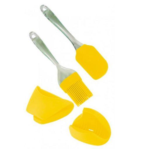 Euro Lady EL-4KHS: Outils de Cuisson 4 PiècesL'Euro Lady EL-4KHS: Set d'outils de cuisson est composé d'une brosse en silicone