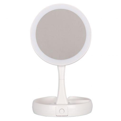 un miroir de courtoisie pliable à LED qui vous permet de faire l'expérience d'illuminer votre beauté. Fabriqué à partir de matériaux ABS de haute qualité