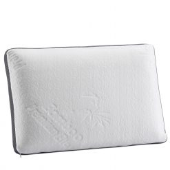 Herzberg HG-3D6040: Oreiller en bambou en mousse de mémoire   L'oreiller en mousse viscoélastique Herzberg en bambou est conçu pour le confort et la durabilité. Un oreiller qui peut être déplacé dans l'oreiller pour un sommeil personnalisable