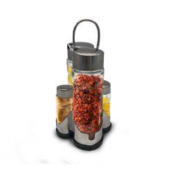 Herzberg HG-6006; Etagère à bouteilles d'oil et pots d'épices