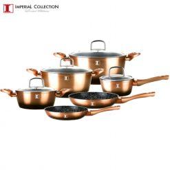 Imperial Collection IM-ST10-FMT: Ensemble de 10 Ustensiles de Cuisine en AluminiumLa collection impériale IM-ST10-FMT est un ensemble d'ustensiles de cuisine en marbre recouvert de 10 pièces