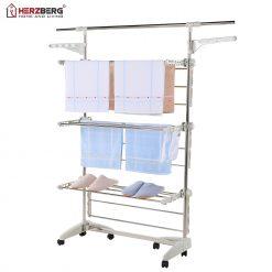 Herzberg HG-5015: Séchoir à Linge Pliable Multifonction Vous recherchez un portant de très grande capacité et vous aidez à sécher vos vêtements et d'autres vêtements? Présentation du Herzberg Moving Clothes Rack