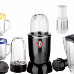 Herzberg HG-6001; Blender multifonction 21 pcsDotez votre cuisine d'un nouvel atout avec le mixeur multifonction. Rien ne résiste à sa puissance de 220W. Préparez de délicieux smoothies et jus de fruits grâce à son set d'accessoires complet.Grace a ses differentes lames