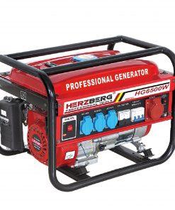 <p><b>Herzberg HG-6500W: Générateur D'essence Professionnel</b></p><p>Le générateur à essence professionnel Herzberg HG-6500W est conçu pour fournir une alimentation fiable et maximiser le besoin et la commodité en cas d'urgence. Robuste et buvable