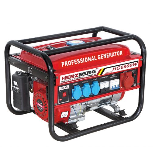 Herzberg HG-6500W: Générateur D'essence ProfessionnelLe générateur à essence professionnel Herzberg HG-6500W est conçu pour fournir une alimentation fiable et maximiser le besoin et la commodité en cas d'urgence. Robuste et buvable