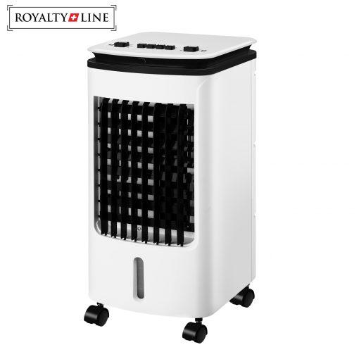 élevéTampon de refroidissement en nid d'abeilleBalançoire automatique à 120 degrés4 roulettes et poignées latérales pour une manipulation facilePuissance: 80 WTension: 220-240V ~ 50HzRéservoir d'eau: 4LDébit d'air: max. 300m3 par heureTaille du produit: 24cm x 26cm x 57cm