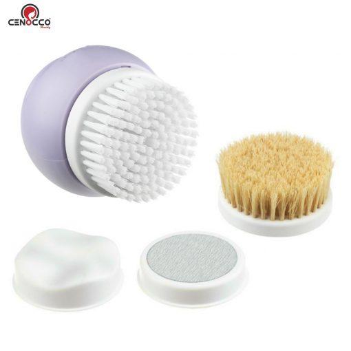 ce qui offre un nettoyage vigoureux des pores en profondeur. Le masseur à ondes réduit le stress