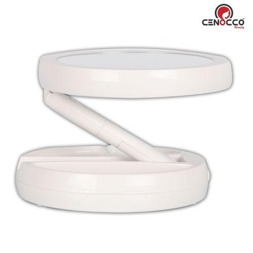 1 x grossissement de miroir pour une vue régulière et un miroir grossi 10x vous permet de voir efficacement et clairement pour une utilisation plus parfaite et précise. La lumière LED utilise une technologie d'éclairage à la lumière du jour qui est économe en énergie. Ce miroir de courtoisie pliable a un design pivotant à 360 ° et une hauteur maximale de 13 pouces vous permet de rechercher facilement votre meilleur angle. Le miroir est clair et non ne produit aucune distorsion et reflète le ton