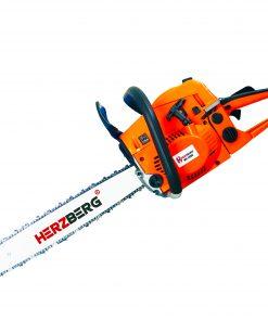 <p><b>Herzberg HG-5800: Tronçonneuse Thermique</b></p><p>La scie à chaîne thermique Herzberg HG-5800 fournit l'énergie nécessaire à la coupe du bois. Cette tronçonneuse à haute efficacité