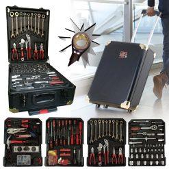 Un assortiment complet d'outils indispensables pour le bricolage vous attend ! Cette mallette à outils Herzberg contient 286 outils soigneusement répartis et organisés dans quatre compartiments. Avec cette mallette complète